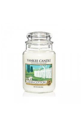 Yankee Clean Cotton® nagy üveggyertya