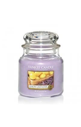 Yankee Lemon Lavender közepes üveggyertya