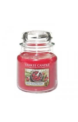 Yankee Red Raspberry közepes üveggyertya