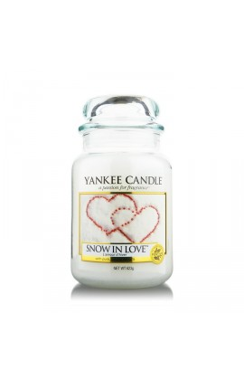 Yankee Snow in Love nagy üveggyertya