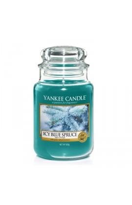 Yankee Icy blue spruce nagy üveggyertya