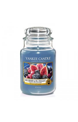 Yankee Mulberry & fig delight nagy üveggyertya